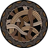 American Dakota Rug: Voices & New Enchota Collection Hand Coiled Black 8' Round Drop Ship