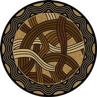 American Dakota Rug: Voices & New Enchota Collection Hand Coiled Natural 8' Round Drop Ship