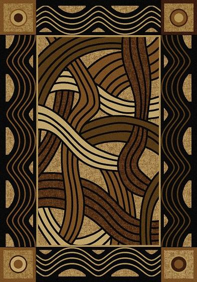 American Dakota Rug: Voices & New Enchota Collection Hand Coiled Natural 4x5 Drop Ship