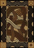 American Dakota Rug: Voices & New Enchota Collection Hand Coiled Natural 8x11 Drop Ship