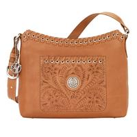 American West Handbag Harvest Moon Collection: Leather Zip Top Shoulder Bag