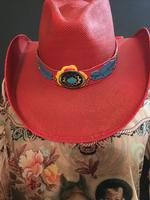 Bullhide Hats: Straw Bangora Wild One Red
