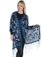 Scully Ladies' Honey Creek Collection Blouse or Scarf: Rose Blue SALE