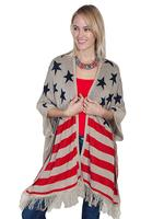 Scully Ladies' Honey Creek Collection Sweater: Flag Acrylic S-L SALE