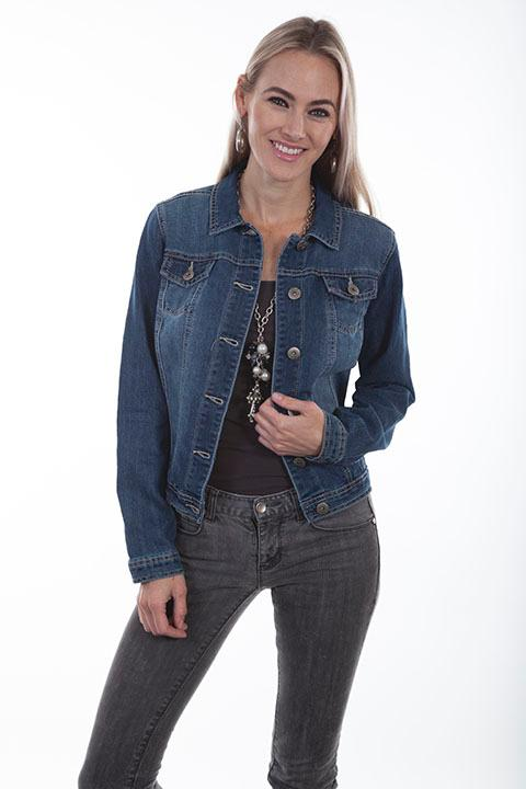 Scully Ladies' Honey Creek Collection Jacket: Denim SALE