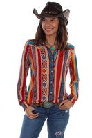 A Scully Honey Creek Blouse: Serape Western Style