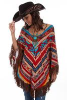 Scully Ladies' Honey Creek Accessory: Serape Poncho