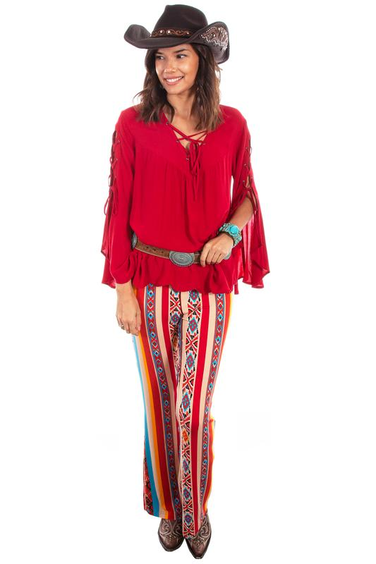 Scully Ladies' Honey Creek Collection Pant: Serape Stripe