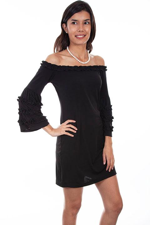 Scully Ladies' Honey Creek Collection Dress: A Ruffles Off The Shoulder