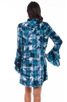 Scully Ladies' Honey Creek Collection Dress: Plaid Western Yokes