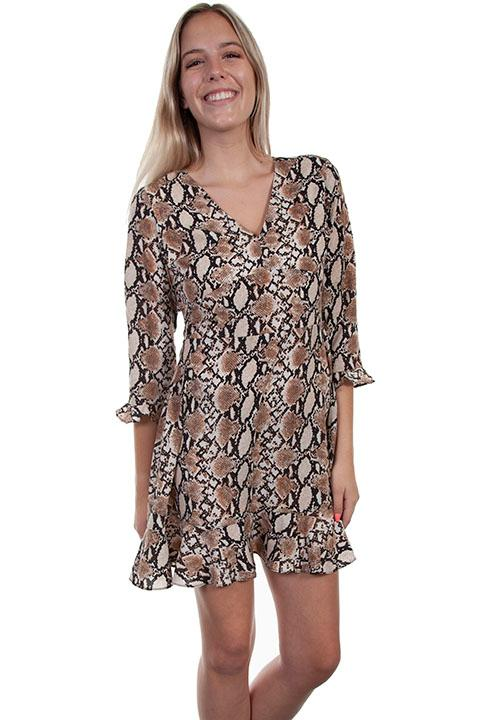 Scully Ladies' Honey Creek Collection Dress: Python Print