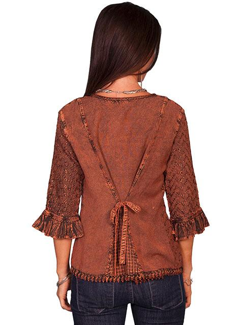 Scully Ladies Honey Creek Collection Blouse 3 4 Sleeve
