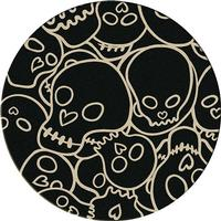 American Dakota Rug: Whimsical & Novelty Collection Head Banger Black 8' Round Drop Ship