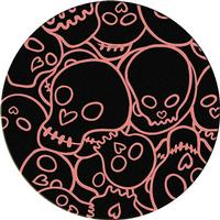 American Dakota Rug: Whimsical & Novelty Collection Head Banger Pink 8' Round Drop Ship