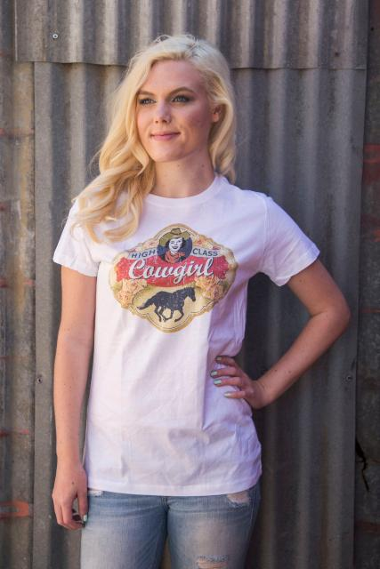Original Cowgirl Clothing: Tee High Class Cowgirl