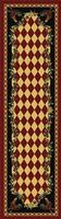 American Dakota Rug: Whimsical & Novelty Collection High Country Roosters Red 2x8 Drop Ship