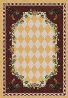 American Dakota Rug: Whimsical & Novelty Collection High Country Roosters Yellow 8x11 Drop Ship