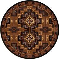 American Dakota Rug: Voices Collection High Rez 8' Round Drop Ship