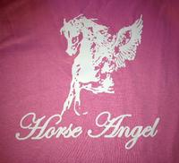 ZSold Andria Kidd: Horse Angel T-Shirt Pink S-XL Sold