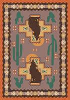 American Dakota Rug: National Park Collection Howl At The Moon 5x8 Drop Ship