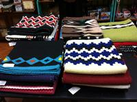Saddle Blanket: 36x34 Abetta Saddle Blanket Wool Black & Turquoise