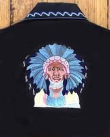 Rockmount Ranch Wear Men's Vintage Western Shirt: A Fancy The Chief Iconic Design Black 2XL