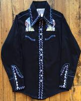 Rockmount Ranch Wear Men's Vintage Western Shirt: A Fancy The Chief Iconic Design Black S-XL
