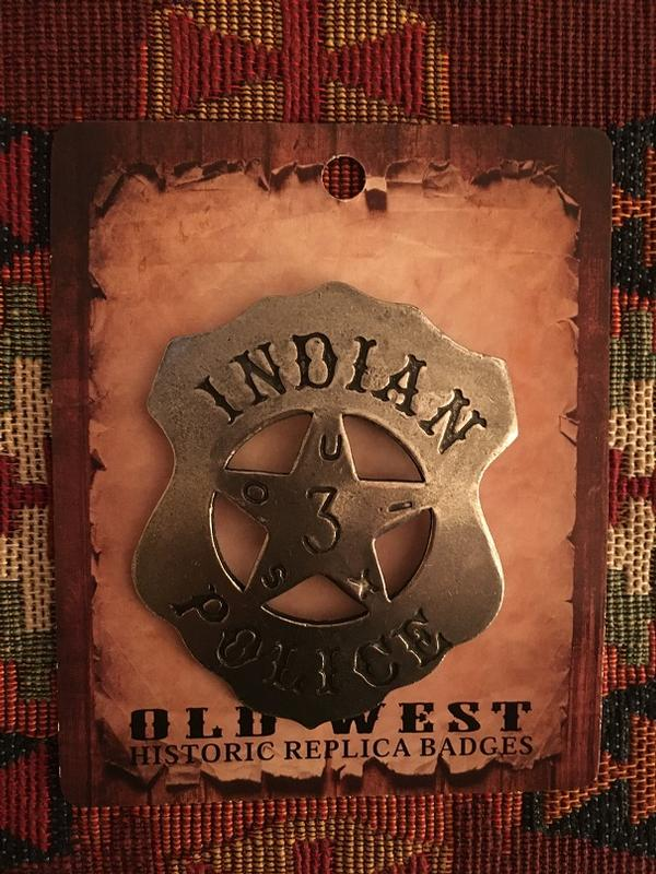 Colorado Silver Star Old West Badge: Indian Police 3