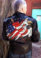 A Ira Hoss for Volcano: Flag and Eagle Shield Lamb Black S-2XL Special Order