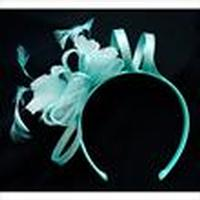 ZSold Fascinator: Flexible Head Band Aqua One Size SOLD