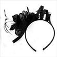 Fascinator: Flexible Head Band Black One Size