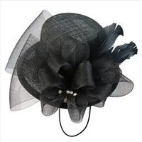 Fascinator: Mini Top Hat with Decorative Details Black Duchess of York One Size