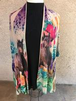 Ladies' Fantazia Apparel Wrap: Jacket Sea Flowers SALE