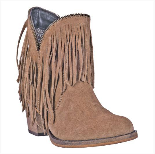 Ladies' Dan Post Boots Dingo: Fashion Fringe JuJu Suede Tan 6-10