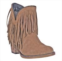 Ladies' Dan Post Boots Dingo: Fashion Fringe JuJu Suede Tan