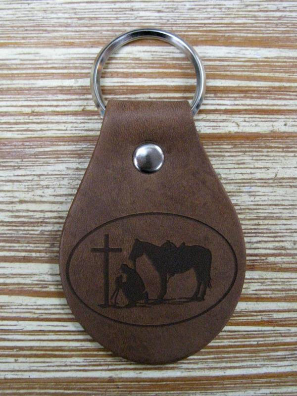 Praying Cowboy Collection: Key Fob Key Ring