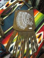 Kippys Pouch Pocket: Headress Silver Stitch with Fringe