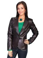 ZSold Scully Ladies' Leather Jacket: Blazer Chocolate 6-12 SOLD