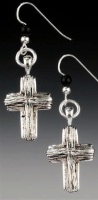 A SALE Praying Collection: Cross Rustic Earrings SALE