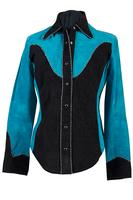 A Scully Ladies' Leather Suede Jacket: Two Tone Western Shirt