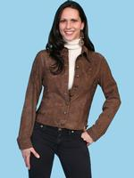 ZSold Scully Ladies' Leather Jacket: Lamb Suede Cocoa S-2XL SOLD
