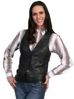ZSold Scully Ladies' Leather Vest: Classic Lamb Black XL-2X SOLD