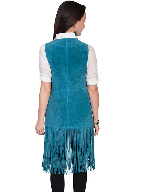 A Scully Ladies Leather Suede Vest A Fringe Vest Long