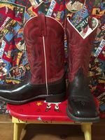 A Ladies' Dan Post Boots Western Laredo: Stockman Harper Red and Dark Brown Square Toe DEAL