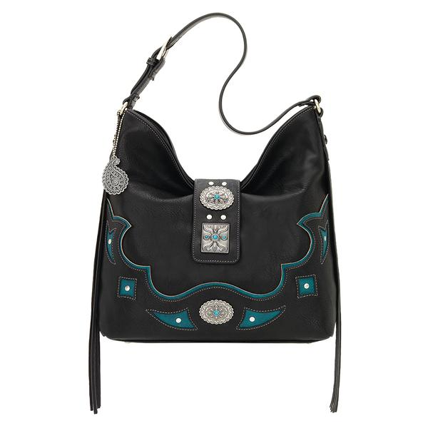 Bandana Handbag Lexington Collection: Slouch Shoulder Black