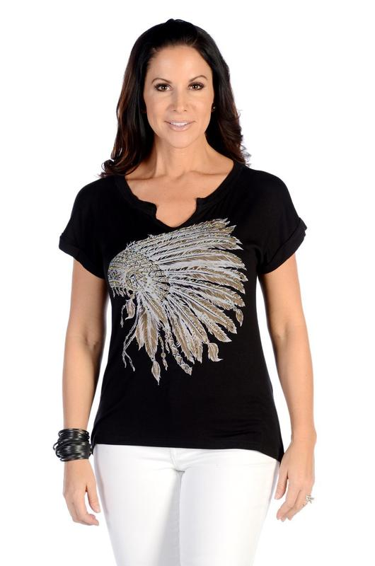 Liberty Wear T-Shirt: Battle Headdress Black