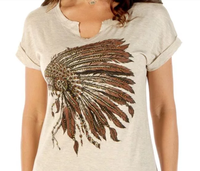 Liberty Wear T-Shirt: Battle Headdress Oat S-3XL