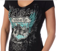 Liberty Wear T-Shirt: Bikin' Route 66 Black