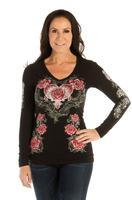 Liberty Wear Top: Hearts, Roses and Wings