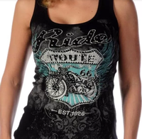 Liberty Wear Tank: Bikin' Route 66 Black
